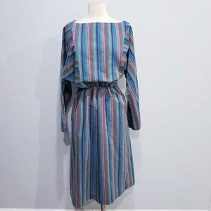 Vintage retro 70's 80's stripe dress
